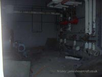 A recce of the derelict buildings of the old Boulogne Hoverport - Heater/boiler system still half intact (N Levy).